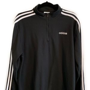 Mens Medium Adidas Half Zip Zippered Sweater